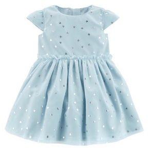 Carter's Baby Girl's Silver Heart Tulle Dress Blue
